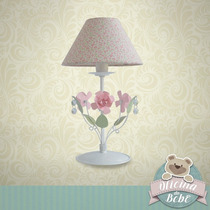 Abajur Menina Exclusivo Luxo Flor Cristal Asfour Infantil