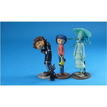 Coraline Set De 4 Figuras Y Botones Promocionales. Muñecas.