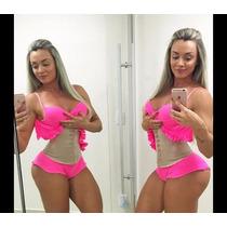 Cinta Modeladora Emborracha Catarina Feminina Bege Original