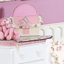 Farmacinha Decorada Para Quarto De Bebê Menina Fleur Rosé Pa