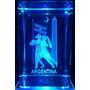 Figura Cristal 3 D Grabado Laser + Base Luminosa Tango