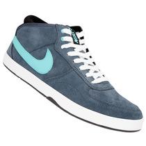Zapatillas Nike Sb Mavrk Mid 3 (gris-plomo+celeste) Mpim H