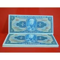 Cédula C016 Fe Dois Cruzeiros Dinheiro Antigo