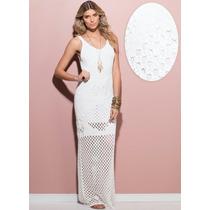 Vestido Longo Trico - Branco - Festas Ano Novo
