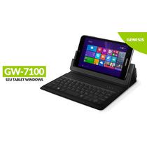 Tablet Genesis Gw-7100 Quad Core Windows 8.1 Capa Teclado
