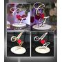 Topo De Bolo Efeite Decoração Casamento Noivos Noivado | Mdf