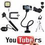 Kit Youtuber 2 - Celular Gravação Mini Tripé Flash Portatil