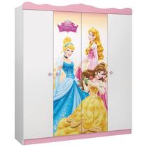Guarda-roupa Pura Magia Princesas Disney Star Branco/rosa