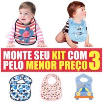 Kit 3 Babadores Para Bebê Com Super Preço