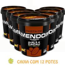 12 Potes Pasta De Amendoim Cacau Com Avelã (480g) Mandubim
