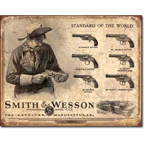 Poster Lamina Anuncio Retro Armas Smith And Wesson Revolver