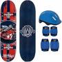 Skate Hot Wheels C/ Acessórios De Segurança 7620-5 - Fun Nf