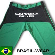 Calça De Capoeira Abada Unisex Verde E Preta Pronta Entrega