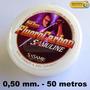 Fluorocarbon Sasame Invisible 0.50 13.2kg. 50 Mts Japon @dcp