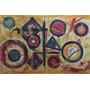 Cuadro Pintura Abstracta Óleo Tela Arte 1,40 X 95 Cm