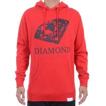 Moletom Masculino Diamond Drawn Hoodie Vermelho