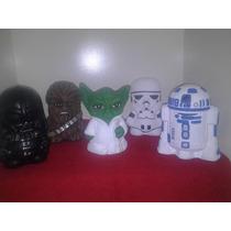 Recuerdos Alcancias De Star Wars Pintadas A Mano Paq. 15 Pza