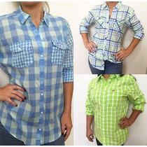 Camisa Feminina Blusa Xadrez Hollister E Abercrombie