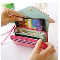 Carteira Feminina Bolsa Para Galaxy S3 S2 Iphone 4 4s 5