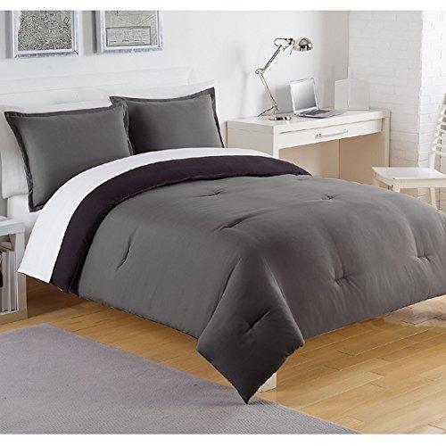 edredones color gris