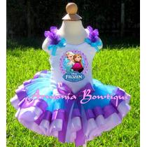 Conjuntos Vestidos Tutu Para Niñas Frozen Sofia Peppa Minnie