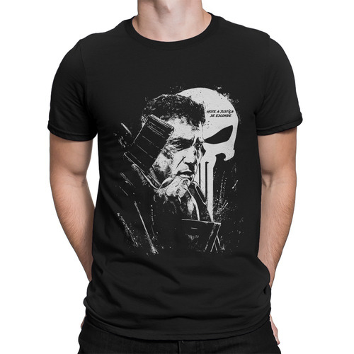 cf260ba3c Camiseta O Justiceiro The Punisher Séries Seriados - R  34