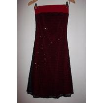 Vestido Gasa Lentejuelas Color Rojo Precioso