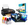 Kit Sublimação Estampar Canecas, Prensa Termica + Impressora