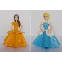 Princesas De Disney X 2 / Porcelana Fría Adorno Torta