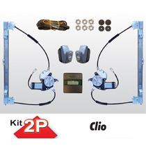 Kit Vidro Eletrico Renault Clio 2 Portas Com Antiesmagamento