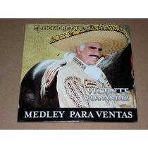 Vicente Fernandez El Hombre Que Mas Te Amo Medley Cd Promo