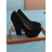 Elegantes Zapatos Negros Nello Rossi Talla 35 Gamuzado
