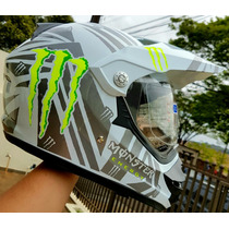 Capacete Cross Monster Energy C/viseira