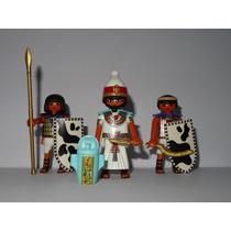 Playmobil Egito Grande Faraó + 2 Soldados