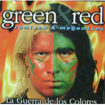 Cumbia De Los 90-green-red-cd Original-guerra De Los Colores
