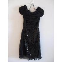 Vestido Negro De Lentejuelas Corto Para Fiesta Formal Tallas