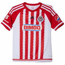 Playera Jersey Local Chivas Guadalajara Niño Adidas Aa1639