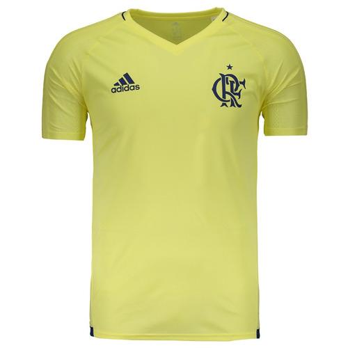 Camisa adidas Flamengo Treino 2017 Amarela - R  179 edac768baaa9a