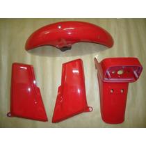 Kit Plásticos Cg 125 87 88 89 Vermelha Carenagens Paralamas