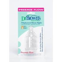 Flow Natural Prematuro Standard Nipple 3 Pack Del Dr. Brown