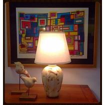 Abajur Classico Moderno Cerâmica Mini Para Quarto Sala