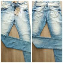 Calça Jeans Masculina Várias Marcas Skinny Com Lycra Ref 984