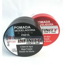 Kit Infinity Hair Pomada Black+pomada Incolor(cx C 48 Unid)