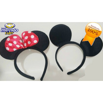 10 Diadema Mimi Y Mickey Mouse, Orejas Moño Minnie,fiesta