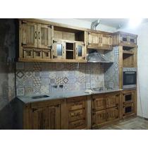 Bajo Mesada Alacena Estilo Campo Muebles De Cocina