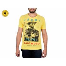 Camiseta Made In Mato Jaum Clint Amarela-984