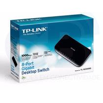 Switch 8 Portas Tl-sg1008d Tp-link 1000mbps - 12x Sem Juros!