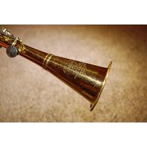 Clarinete De Metal Dourada Chaves Prateada