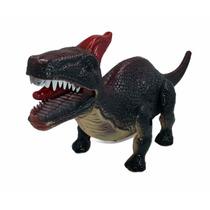 Dinossauro De Brinquedo Com Luzes E Movimento Som 27cm