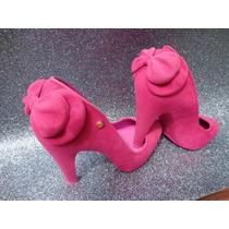 Melissa Incensse Pink Com Laço Flocada De Salto